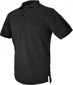 Hazard 4 QuickDry Undervest Plain Front Battle Polo, Black, Medium