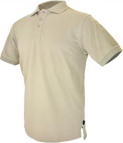 Hazard 4 QuickDry Undervest Plain Front Battle Polo, Tan, Small