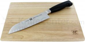 Zwilling J.A. Henckels TWIN Four Star 2 Piece 7 inch Santoku Knife with Board Set (35074-002)
