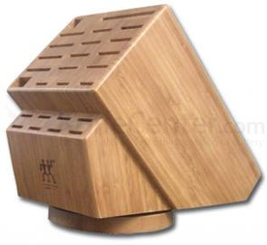 Zwilling J.A. Henckels 26 Slot Bamboo Swivel Knife Block