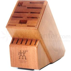 Zwilling J.A. Henckels Storage Cherry Wood Knife Block, 16 Slots