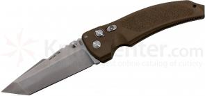 Hogue EX03 4 inch Tactical Tanto Blade with Matte Brown Polymer Handles