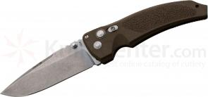 Hogue EX03 4 inch Tactical Drop Point Blade with Matte Brown Polymer Handles