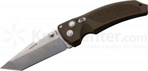Hogue EX03 3.5 inch Tactical Tanto Blade with Matte Brown Polymer Handles