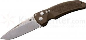 Hogue EX03 3.5 inch Tactical Drop Point Blade with Matte Brown Polymer Handles