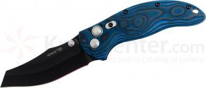 Hogue EX04 3.5 inch Tactical Wharncliffe Blade with G-Mascus Blue Lava G-10 Handles