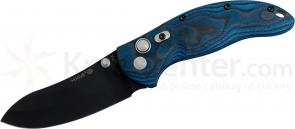 Hogue EX04 3.5 inch Tactical Upswept Blade with G-Mascus Blue Lava G-10 Handles