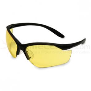 Howard Leight Vapor II Eye Protection, Black Frame, Amber Lens