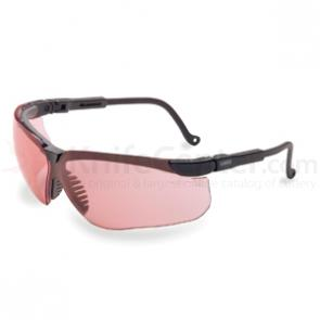 Howard Leight Genesis Eye Protection, Black Frame, Vermillion Lens