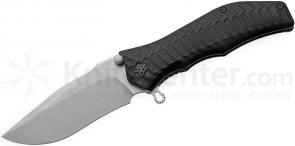 HTM Knives Darrel Ralph DDR Limited Edition Gun Hammer Bowie Assisted 3-1/2 inch Satin M390 Combo Blade, Aluminum Handles