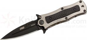 HTM Knives Darrel Ralph DDR Madd MAXX Tuxedo Assisted 3 inch S35VN Black Blade, Titanium & Carbon Fiber Handles
