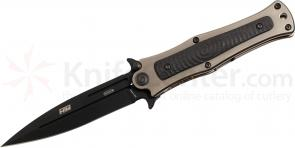 HTM Knives Darrel Ralph DDR Madd MAXX Tuxedo Assisted 4 inch S35VN Black Blade, Titanium & Carbon Fiber Handles