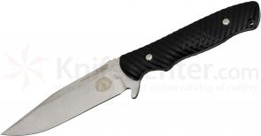 HTM Knives Grady Burrell Master Proven 1 Fixed 4-1/8 inch Satin Plain Clip Point Blade, G10 Handles (MPGBFBH)