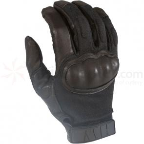 HWI HKTG100 Hard Knuckle Tactical Glove, Black, SM