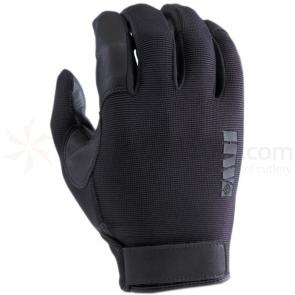 HWI ULD100 Spandex Knit and Goatskin Leather Duty Glove, Black, LG