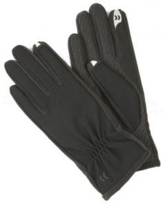 ISOTONER Women's smarTouch Stretch Gloves - Fleece Lined, Black, X-Large