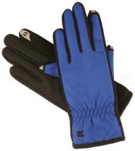ISOTONER Women's smarTouch Gloves - Ultra Plush Lined, Cobalt, Medium/Large