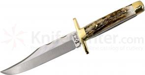 IXL Wostenholm Bowie Knife 6 inch Carbon Steel Blade, Stag Handles, No Sheath