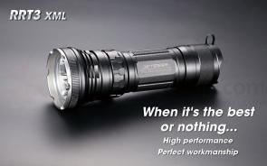 JETBeam RRT-3 XML Aluminum LED Flashlight 3x18650, 1950 Max Lumens