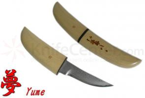 Kanetsune Yume S Fixed Tanto Damascus Blue Steel Tanto Blade 5.91 inch Overall