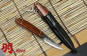 Kanetsune Hane 1.58 inch Carbon White Steel Blade, Cocobolo Handle
