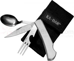 KA-BAR 1300 Hobo Outdoor Dining Kit, Nylon Sheath