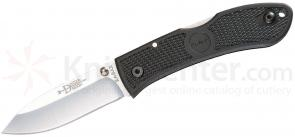 KA-BAR 4062 Dozier Folding Hunter 3 inch Satin Plain Blade, Black Zytel Handles