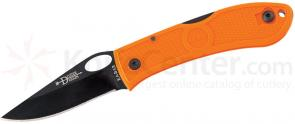 KA-BAR 4065BO Dozier Folding Hunter Thumb Notch 3 inch Black Plain Blade, Blaze Orange