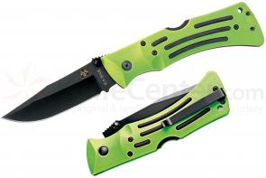 KA-BAR 3058 ZK (Zombie Killer) Knives MULE Folding Knife 3-7/8 inch Plain Blade, Green Zytel Handles