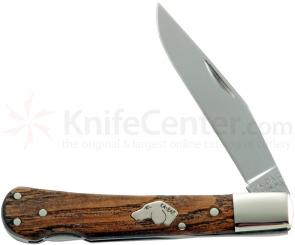 KA-BAR 3112 Dog's Head Lockback 3-1/16 inch Plain Blade, Chestnut Handles
