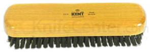 Kent Rectangle Shaped Clothes Brush w/ Pure Black Bristle -Cherrywood
