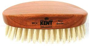 Kent Travel Size Hair Brush w/ Pure White Bristles - Cherrywood