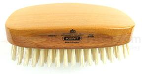 Kent Rectangular Shape Hair Brush w/ Soft Pure White Bristles