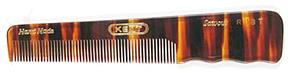 Kent 140 mm Handmade Pocket Hair Comb from England w/ Fine Teeth, Tortoise Shell Finish
