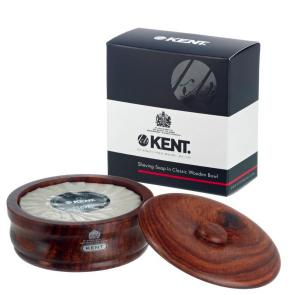 Dark Oak Shaving Bowl w/ Kent Luxury Shaving Soap Included