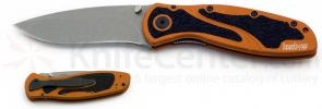 Kershaw Blur Assisted 3-3/8 inch Stonewash Blade, Burnt Orange Handles