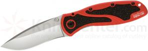Kershaw Red Blur by Ken Onion Assisted 3-3/8 inch Satin Plain Edge Blade