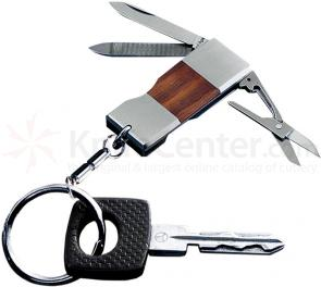 Kershaw 6500 Mini Keychain Knife, Rosewood Inlay