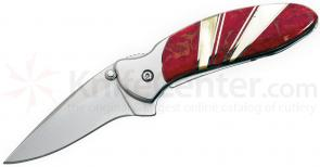 Kershaw Ken Onion Chive Assisted  1-15/16 inch Blade, Red Coral and Mother of Pearl Jewelry Collection