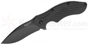 Kershaw 1605CKT Clash Assisted 3 inch Black Plain Blade, Polyimide Handles
