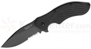 Kershaw 1605CKTST Clash Assisted 3 inch Black Combo Blade, Polyimide Handles