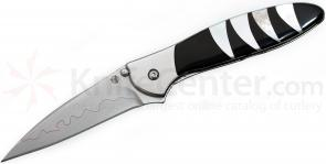 Kershaw Leek Assisted 3 inch Composite Blade, Black Jet and White Mother of Pearl Jewelry Collection