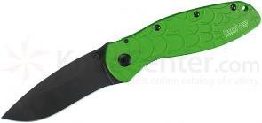 Kershaw 1670SPGRN Ken Onion Blur Assisted 3-3/8 inch Black 154CM Blade, Green Spider Web Aluminum Handles