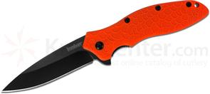 Kershaw 1830ORBLK Oso Sweet Assisted Flipper 3.1 inch Black Plain Blade, Orange GFN Handles, KnifeCenter Exclusive