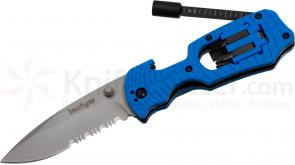 Kershaw 1920BLSTWM Select Fire 3-3/8 inch Combo Edge Blade Multi-Tool Knife, Blue FRN Handles