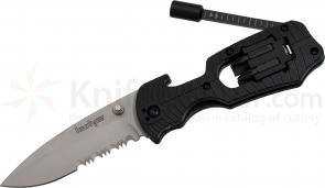 Kershaw 1920STWM Select Fire 3-3/8 inch Combo Edge Blade Multi-Tool Knife, Black FRN Handles