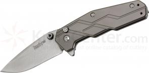 Kershaw 3810 Dimension Assisted 3 inch Stonewash Blade, Titanium Handles
