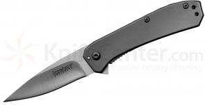 Kershaw 3870 Amplitude 2.5 Folding Assisted 2.5 inch Satin Plain Blade, Stainless Steel Handles