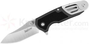 Kershaw 8000GRY Charcoal Funxion Outdoor 3 inch Plain Satin Blade, Aluminum Handles