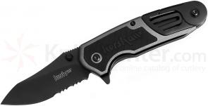 Kershaw 8100GRYST Charcoal Funxion EMT Rescue Folder 3 inch Black Combo Blade, Aluminum Handles